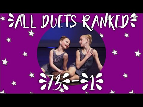 Dance Moms ALL DUETS RANKED