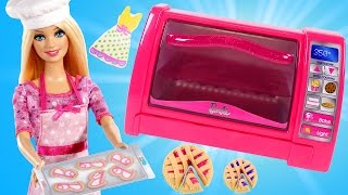 Barbie Dollicious Pastry Chef Play Doh Toy Oven Baking with Barbie & Cookie Monster. PLAY DOH PLAYSETS PLAYDOUGH TOYS ...