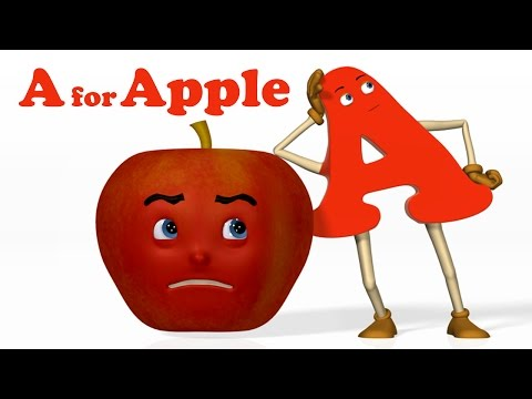 A for Apple | Alphabet ABC Songs | Phonics Song  - 3D ABC Songs & Rhymes for Children (видео)