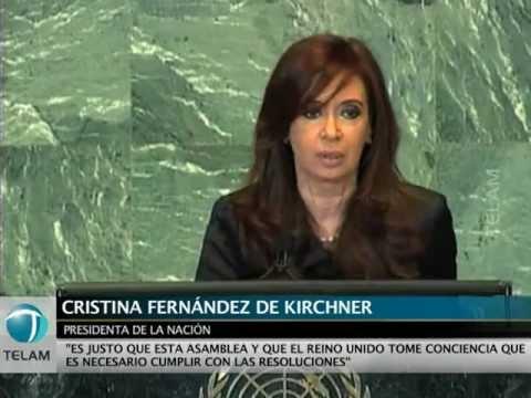 Cristina reclamó en la ONU por Malvinas