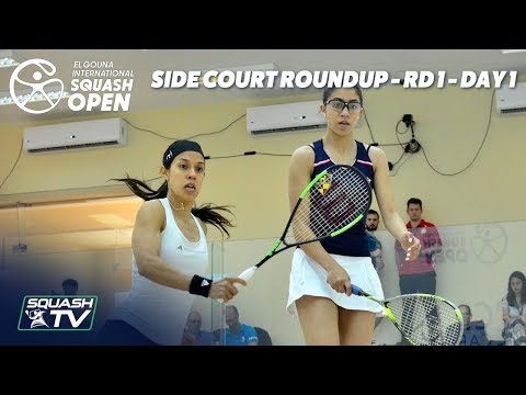 Squash: Side Court Roundup - El Gouna International 2019 Rd 1 - Day 1