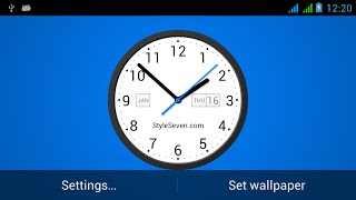 Light Analog Clock LW-7 YouTube video
