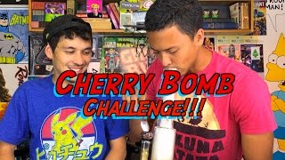 CHERRY BOMG CHALLENGE!! by Take a Break with Aaron & Mo