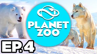 Planet Zoo: Arctic Pack Ep.4 - EXHIBIT ANIMAL BREEDING PARTNERS, SHOPPING AREA! (Gameplay Lets Play)