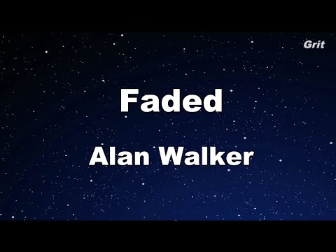 Faded - Alan Walker Karaoke 【With Guide Melody】 Instrumental