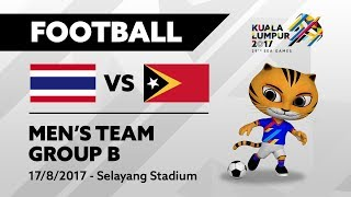 KUALA LUMPUR 2017 FOOTBALL MEN'S TEAM - GROUP B Thailand VS Timor Leste 17/08/2017 - Selayang Stadium. Watch more matches and get the latest ...