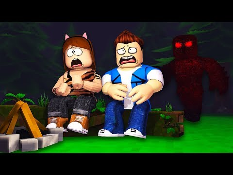 We went camping then got ATTACKED by a GIANT MONSTER !? - Roblox Roleplay (Flee the Facility)