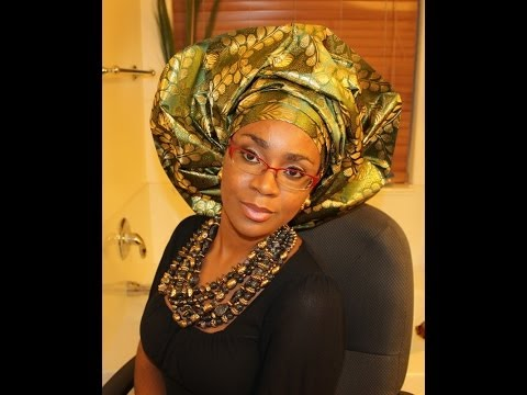 How to tie Gele:  Bridal style