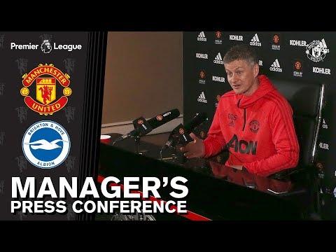 Download Manager's Press Conference | Manchester United v Brighton | Ole Gunnar Solskjaer