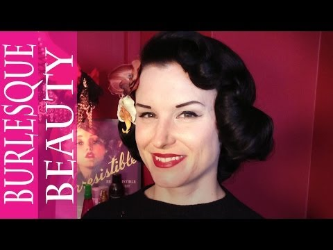 vintage hair - Get the Dita Von Teese vintage hair look. Miss Betty at Carnaby salon It's Something Hell's shows us how to do a fab vintage look -- 1950s waves just like Di...