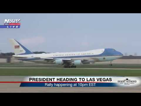 PERFECT Air Force One Take-Off - President Trump Travels To Las Vegas For #MAGA Rally