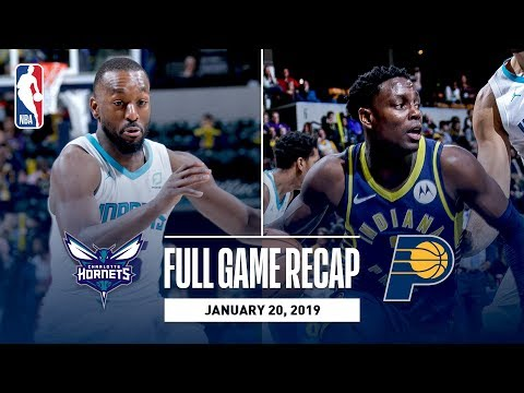 Video: Full Game Recap: Hornets vs Pacers   Collison & Oladipo Lead Team Effort
