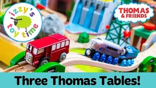Thomas Train THREE TABLE CHALLENGE with Thomas and Friends, KidKraft, and Brio! Toy Trains for Kids