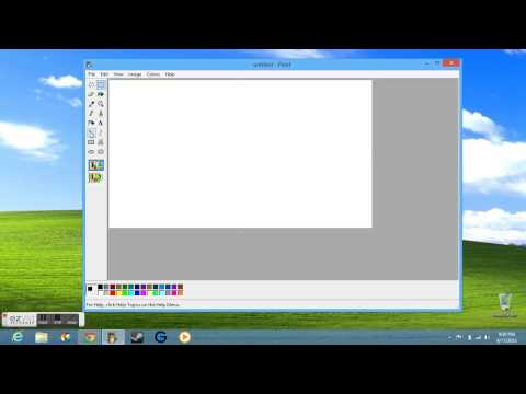 how to go paint in windows 8