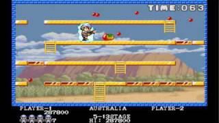 Pang stage 1 to 15 1989 Mitchell Mame Retro Arcade Games