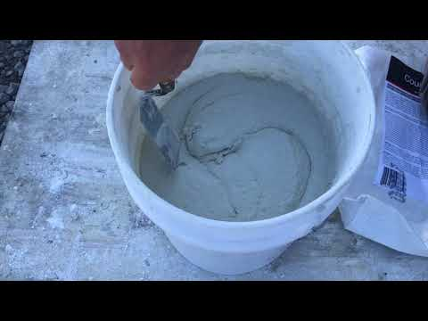 How to Mix the White Countertop Concrete