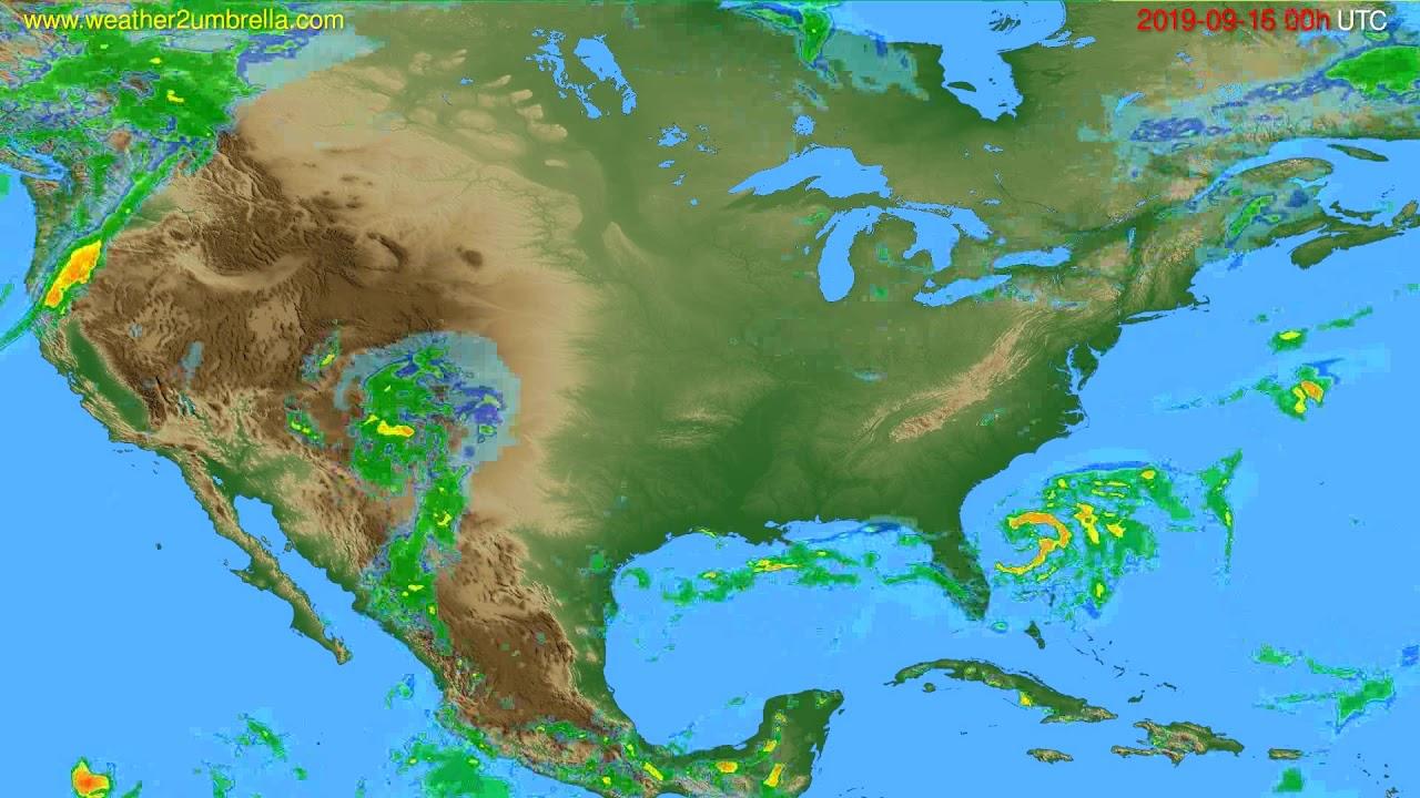 Radar forecast USA & Canada // modelrun: 12h UTC 2019-09-15