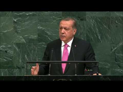 Выступление президента Турции Реджепа Эрдогана на Генассамблее ООН (видео)