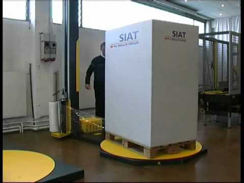 Semi Automatic Pallet Wrappers - Siat F1-M Video Image