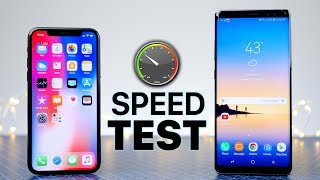 iPhone X vs Samsung Galaxy Note 8 SPEED Test!