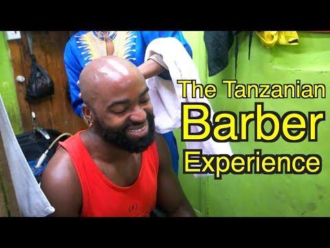 Hair cutting - Cutting Hair in Tanzanian in a local BarberShop