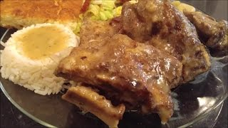 Help Meso reach 20,000 subscribers by sharing this video in your circles and wherever you are active on social media and with family and friends.  This is comfort food that will make you holla for yo momma! This gravy is the main attraction of this dish. Smooth creamy rich and delicious. You'll make this gravy to go with many dishes. Try this recipe and watch them loosen those pants and rub those bellies after this delicious dish. Southern Style Neckbones with Gravy5 lbs. Pork Neckbones washed and cleanedTo taste:SaltPepperLemon PepperGarlic PowderOnion PowderJerk Seasoning or Creole SeasoningPaprikaGravy2 cups Milk & 2 cups Water1/4 cup Flour1/4 tsp. of Salt, Pepper, Garlic, Onion Powder2 tbsp. PaprikaWhisk together very well and pour over neckbones when just out of oven Making sure the neckbones are sizzling hot. Then place back in oven for 15 minutes.