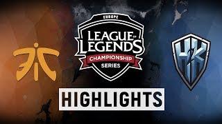 Video FNC vs. H2K - EU LCS Week 2 Day 1 Match Highlights (Summer 2018) MP3, 3GP, MP4, WEBM, AVI, FLV Juni 2018
