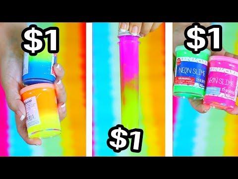 $1 vs $1 vs $1 Slime - Cheapest Slime Bought in Stores Ever !