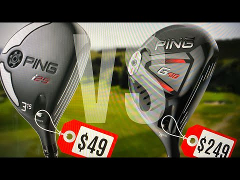 $249 PING G410 vs $49 PING i25 Fairway Wood Test!