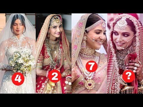 Top 10 Most Expensive Wedding Dresses Of Bollywood Actresses 2020 - Anushka Sharma - Kareena Kapoor