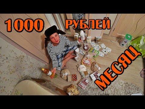 МОЖНО ЛИ ВЫЖИТЬ МЕСЯЦ НА 1000 РУБЛЕЙ В РОССИИ ДЕНЬ1-3 - DomaVideo.Ru