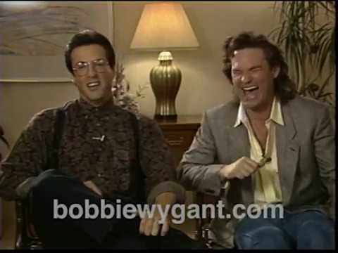 """Sylvester Stallone & Kurt Russell """"Tango And Cash"""" 1989 - Bobbie Wygant Archive"""