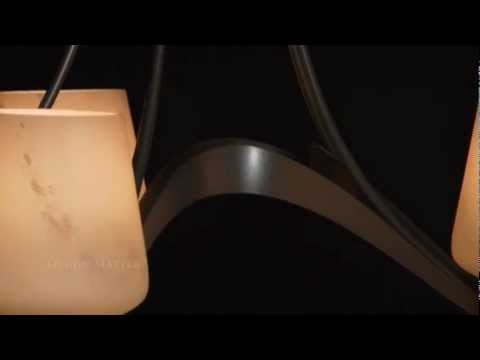 Video for Ribbon Oval Dark Smoke Six-Light Chandelier with Clear Glass with Opal Diffuser