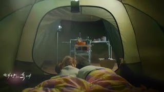 Descendants of the Sun episode 15 trailer - Main Couple camping in the evening