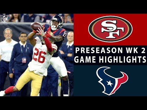 49ers Vs Texans Highlights NFL 2018 Preseason Week 2