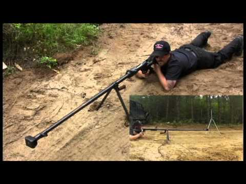 rifle - The Russian PTRD-41 anti-tank rifle in action! This firearm is not for sale.