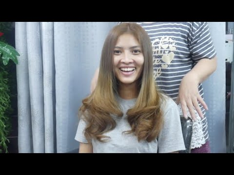Hair color - medium brown color hair  เปลี่ยนสีผมเป็นสีน้ำตาลกลาง