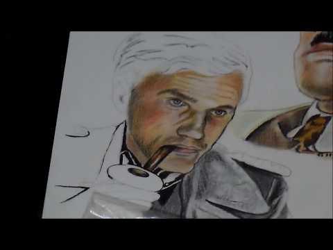 Desenho do Hans Landa do filme Bastardos Inglórios - Speed Art