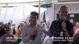 Kunjungan Gubernur Jawa Tengah Ganjar Pranowo di Pasar Subah