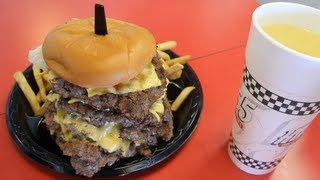 Video Eating A 50oz Cheeseburger, 8oz Fries, 24oz Drink in 2:29 (New Record) | Furious Pete MP3, 3GP, MP4, WEBM, AVI, FLV Mei 2017