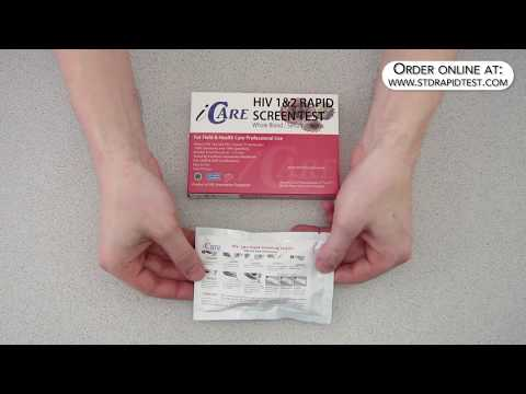 How to use an iCare HIV test kit -  by LT Labs