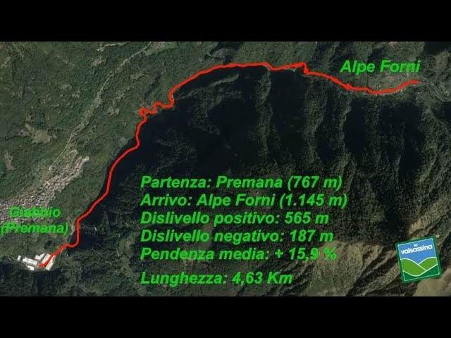 Da Giabbio (Premana) all'Alpe Forni