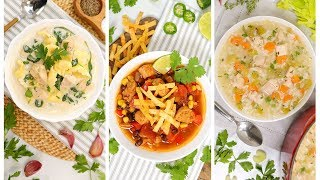 3 Chicken Soup Recipes | Easy Fall Comfort Foods by The Domestic Geek