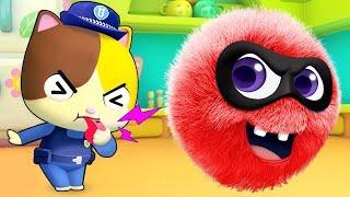 Kitten Police Catches Naughty Dust | Nursery Rhymes | Kids Songs | Kids Cartoon | BabyBus