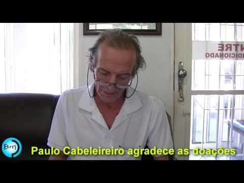 Jales - Paulo cabeleireiro agrade as doações.