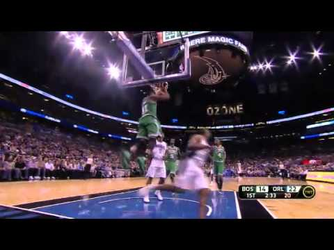 Chris Duhon takes the steal to the other end - Magic vs. Celtics