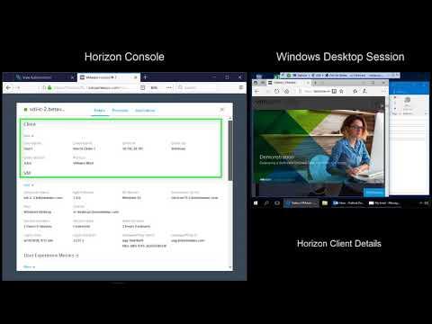 VMware Horizon 7 v7.5: Help Desk Tool - Feature Walk-through