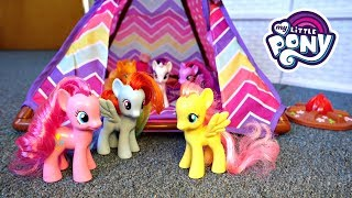 My Little Pony Camping Camper Van with New Tent! | Mommy Etc