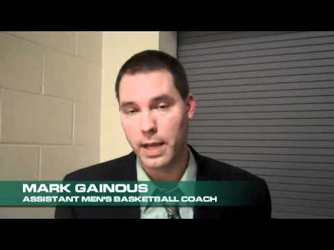 Assistant Men's Basketball Coach Mark Gainous Post Game Interview 11.03.11