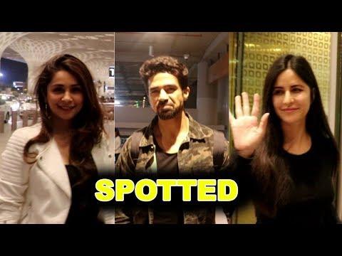katrina Kaif ,Saqib Saleem & Malvika Raajspotted at Mumbai Airport